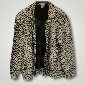 Vintage Fuda Intl. Leopard 100% Silk Jacket